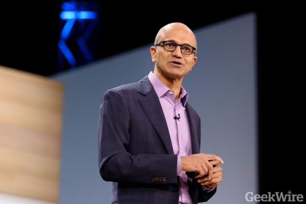 Microsoft CEO Satya Nadella speaks at Microsoft Envision in New Orleans last week.