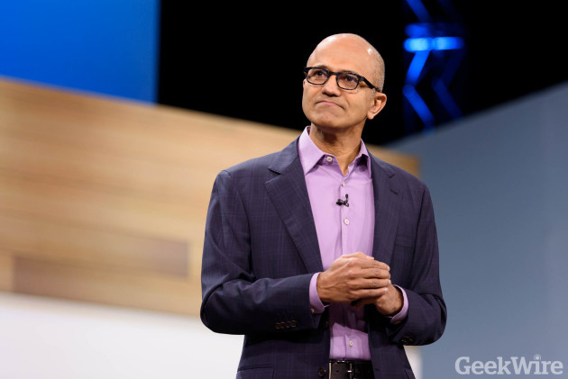 Microsoft CEO Satya Nadella. (GeekWire File Photo)