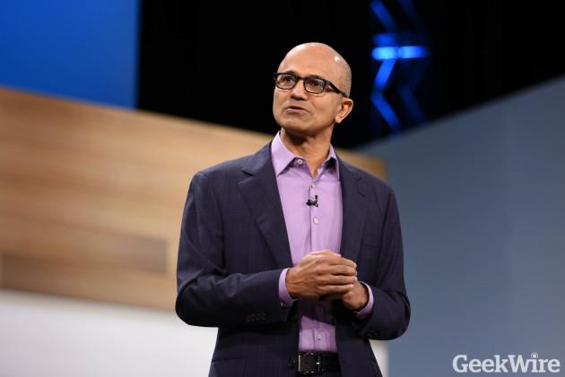 Microsoft CEO Satya Nadella speaks at Microsoft Envision in New Orleans las.