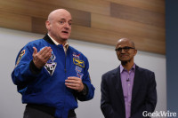 Scott Kelly and Satya Nadella