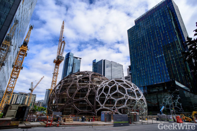 Amazon S Giant Seattle Biospheres Come Into Focus With