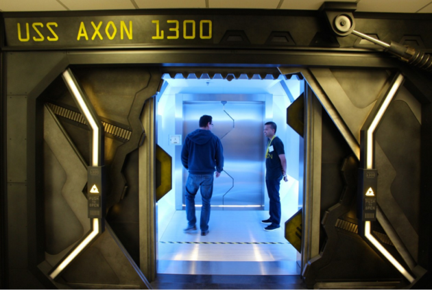 Inside the spaceship-themed office of Axon