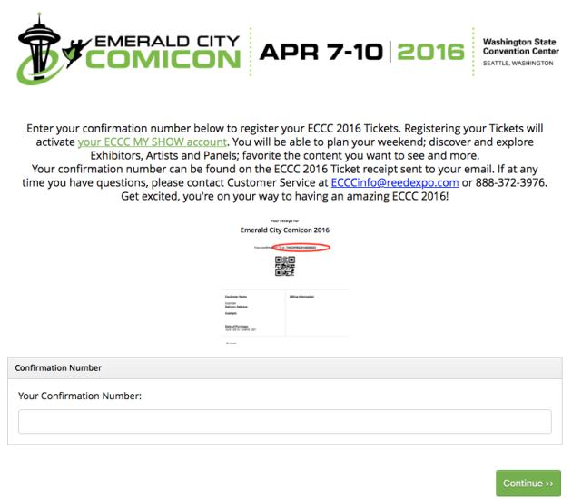 ECCC ShowClix ticket registration