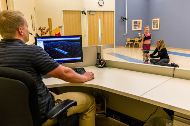Gillette researchers can use electromyography (EMG) data to help understand the role played by motor control in abnormal gaits. (Gillette)
