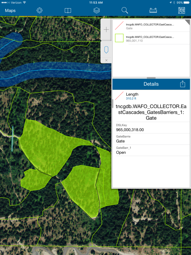 Mapping tool used by TNC foresters. (Image: The Nature Conservancy)