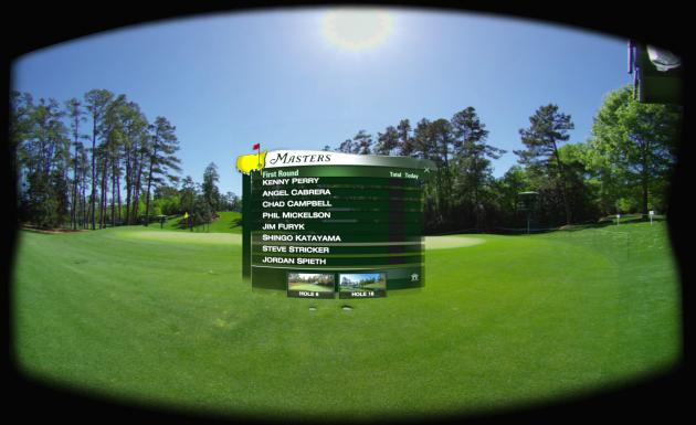 The virtual reality view. Photo via NextVR.