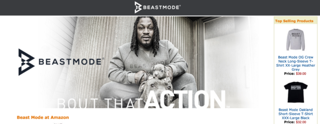 best authentic 10a8d f210b Former Seahawks star Marshawn Lynch inks deal with Amazon's ...