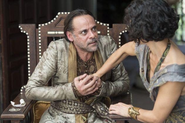 Alexander Siddig as Doran Martell and Indira Varma as Ellaria Sand (Credit: Macall B. Polay/HBO)