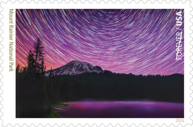 Night sky image of Mount Rainier will be U.S. stamp — photographer shares his technique, love for stars