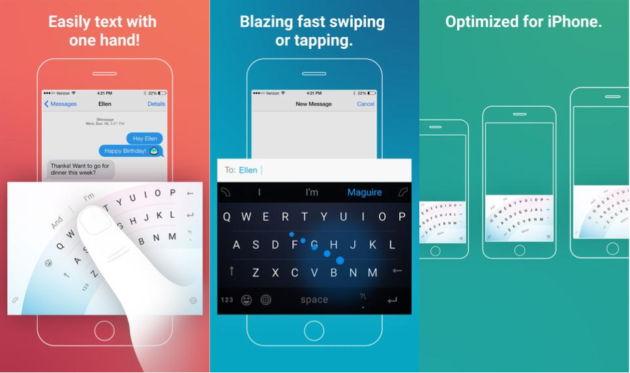 Brings wordflow keyboard to ios optimized for one handed typing