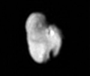 An image captured during the New Horizons flyby in July 2015 shows Hydra, Pluto's outermost moon. (Credit: NASA / JHUAPL / SwRI)