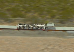 Hyperloop One test sled