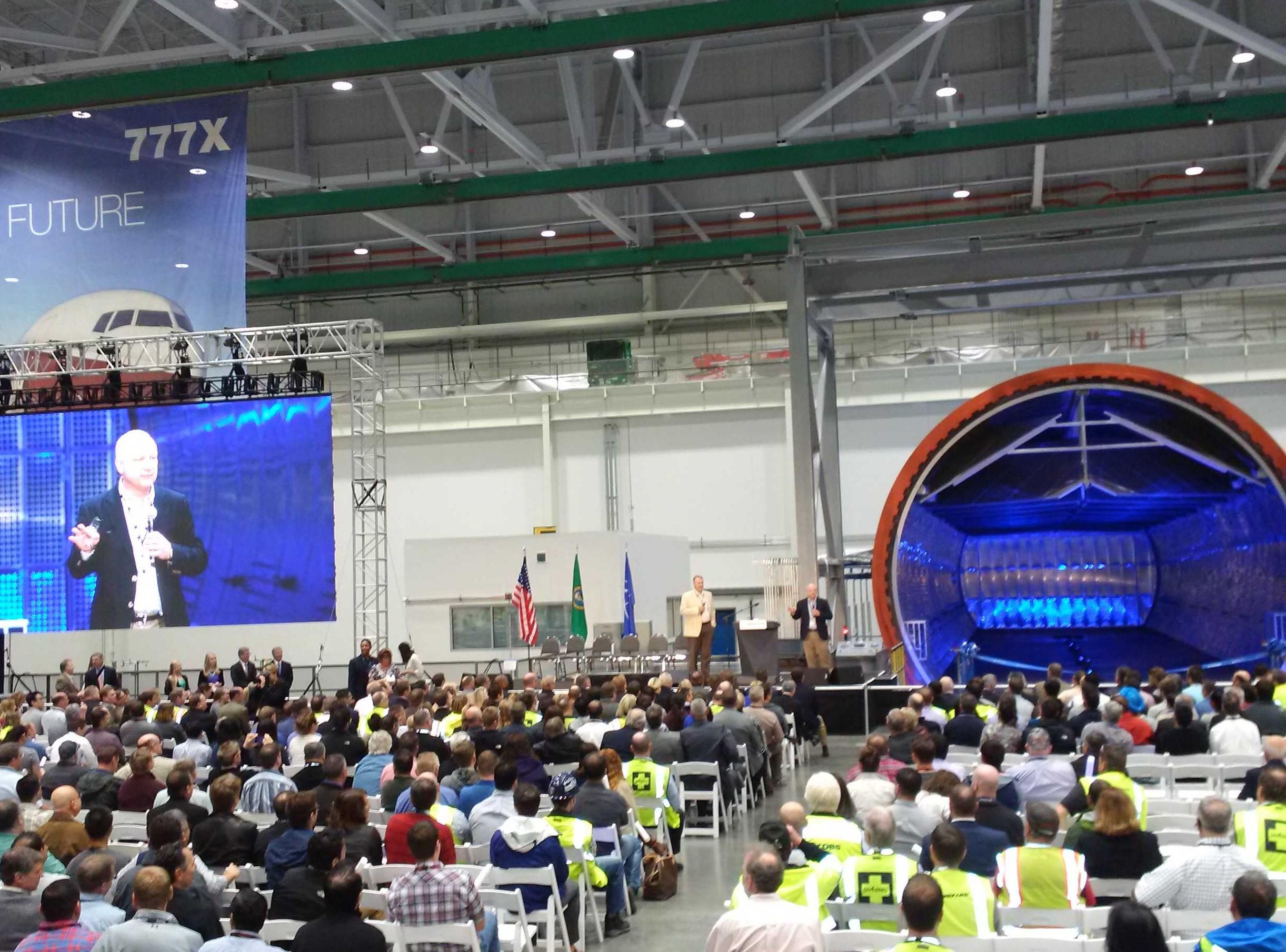 Boeing opens billion-dollar 777X wing factory – GeekWire