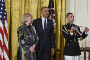 Mary-Claire King and President Obama