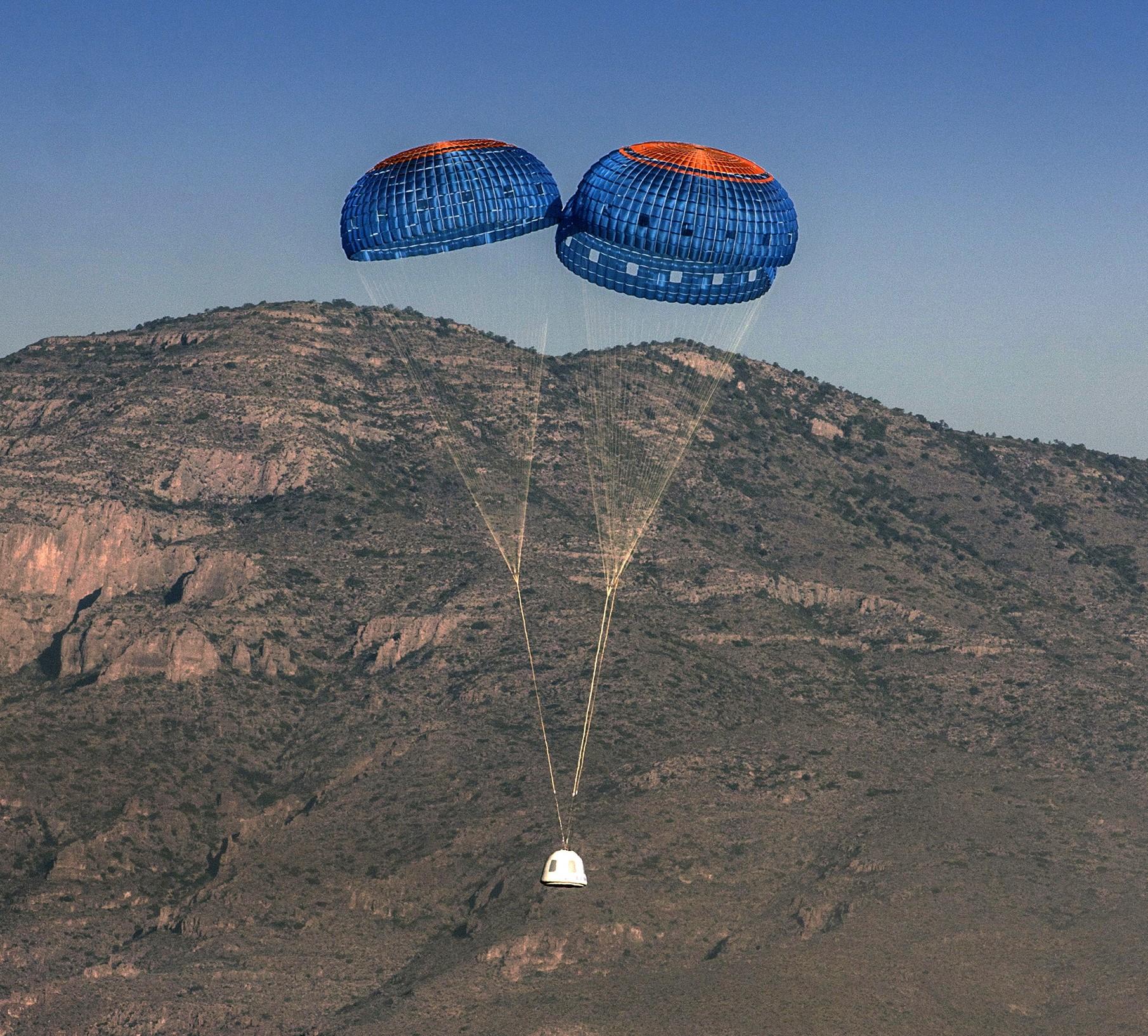 Blue Origin's next flight will test parachute failure - GeekWire