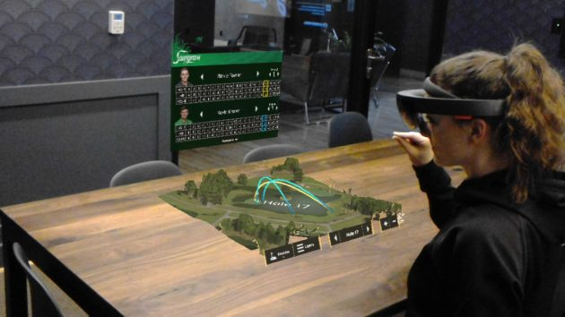Taqtile developed augmented reality software on Microsoft's HoloLens per a request from the PGA Tour. Credit: Taqtile.