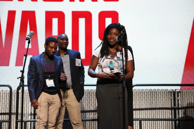 From left to right: Black Dot co-founders Mujale Chisebuka, K. Wyking Garrett, and Aramis Hamer. Not pictured: co-founder Monica Washington.