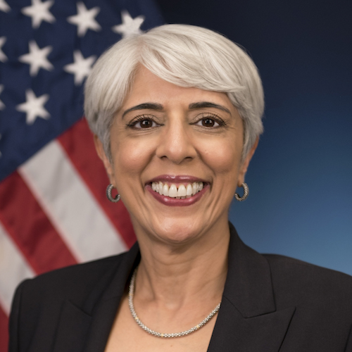 DARPA Director Dr. Arait Prabhakar takes her official photo on August 18, 2015 at DARPA in Arlington, Va. (Photo By: Sun L. Vega)