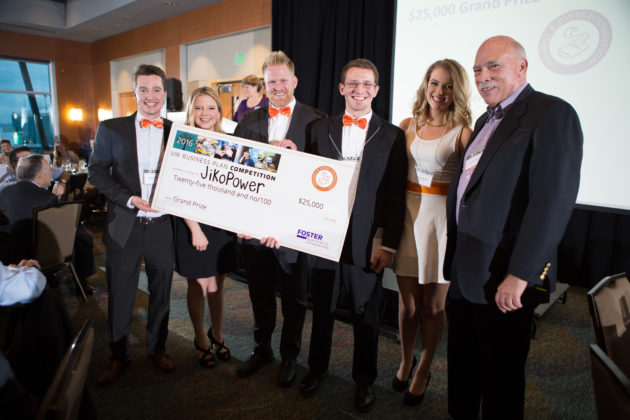 JikoPower took home the top prize at the UW Business Plan Competition. Photo via UW.