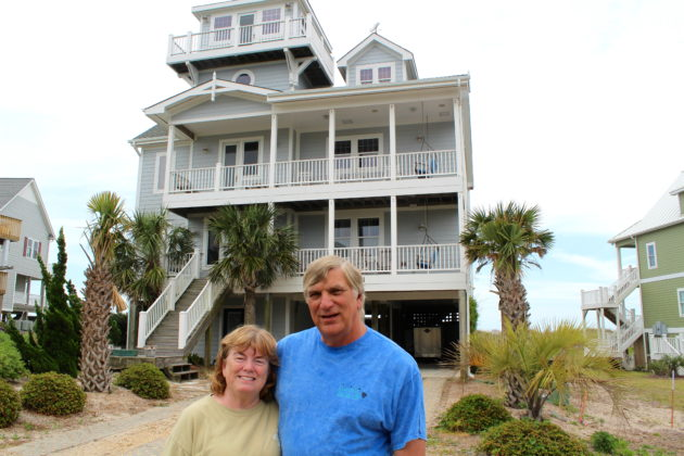 Homeowners Susan and Bob Frank with their vacation rental property.