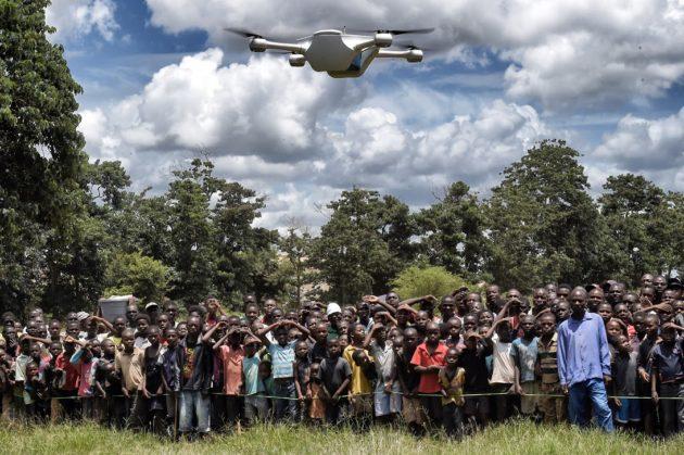 Testing a drone in Malawi. (Matternet)