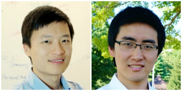 KITT.AI co-founder and CEO Xuchen Yao, and co-founder Guoguo Chen.