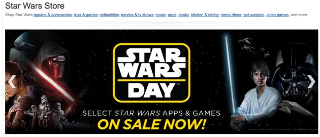 Amazon Star Wars store