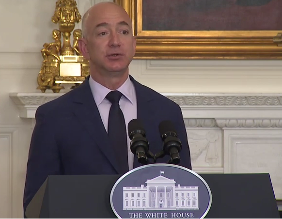 Video Jeff Bezos At The White House Promotes Plan To Hire 25 000