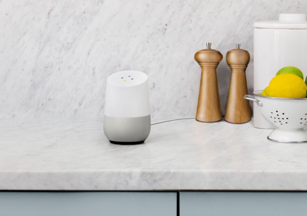 The Google Home. Image via Google.