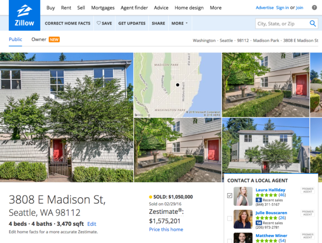 Zestimiss why did ceo spencer rascoff s home sell for 40 for Zillow site