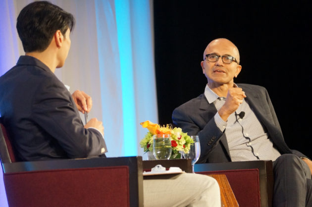 Microsoft CEO Satya Nadella at the Technology Alliance luncheon