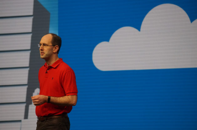 Microsoft cloud chief Scott Guthrie at the company's recent Build conference.