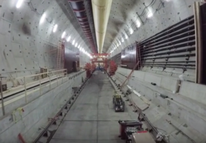 Tunnel drone video