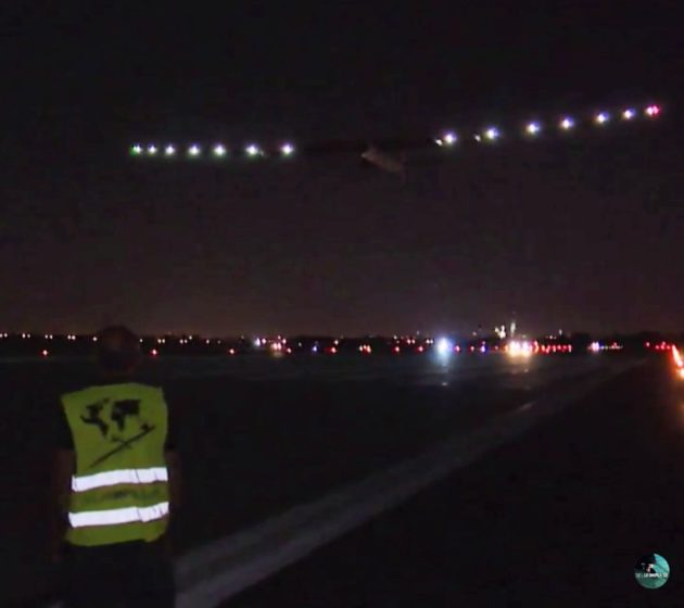 Solar Impulse takeoff