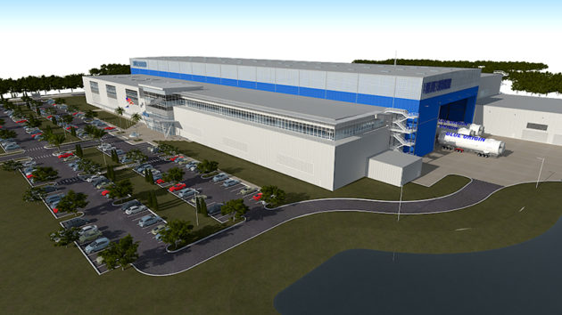 Blue Origin rocket factory