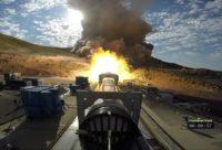 SLS solid-rocket booster firing