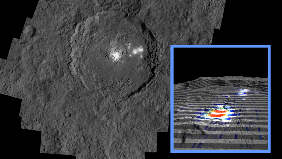 Dwarf planet Ceres' mysterious bright spot hints at upwelling of salty water