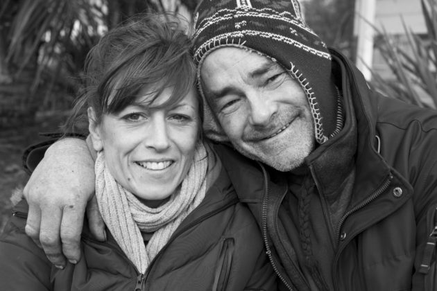 Portrait of Nicole and Tim, a couple who struggled with homelessness. Nicole recently passed away, a loss that was shared on Facing Homelessness. (Rex Hohlbein, Facing Homelessness)