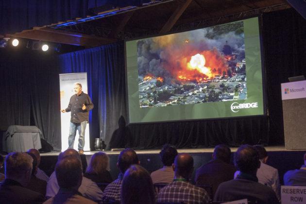 Tim Edward, President of OneBridge presenting at Demo Day.