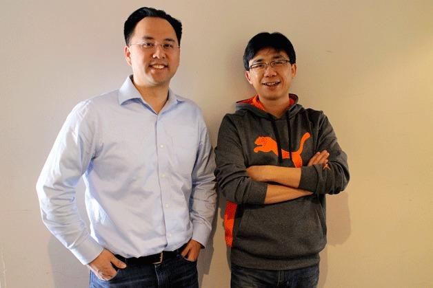 TalentSonar co-founders Alvin Loh and Hui Dai.