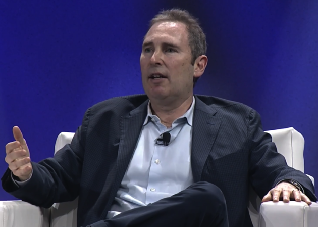 Andy Jassy, AWS CEO, speaking via webcast this morning.