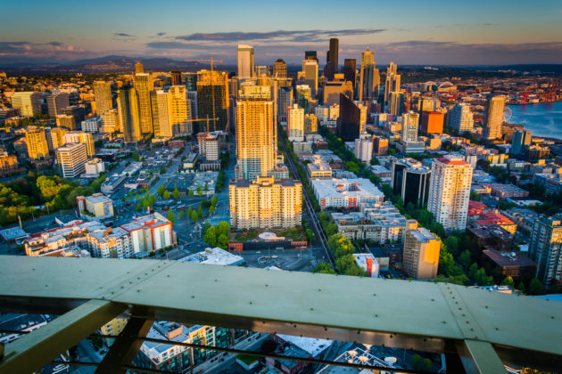 Seattle continues to add inventory to alleviate the strained rental market but lawmakers worry short-term rentals will slow progress. (Photo via Shutterstock).
