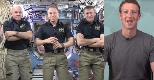 Facebook Live space station