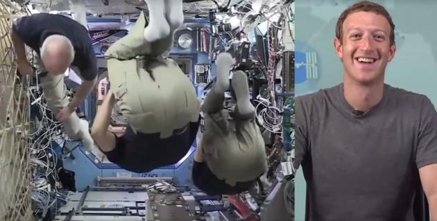 Facebook Live astronauts