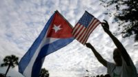 Cuban and U.S. flag: Havana