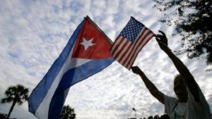 Cuban and U.S. flag: Havana