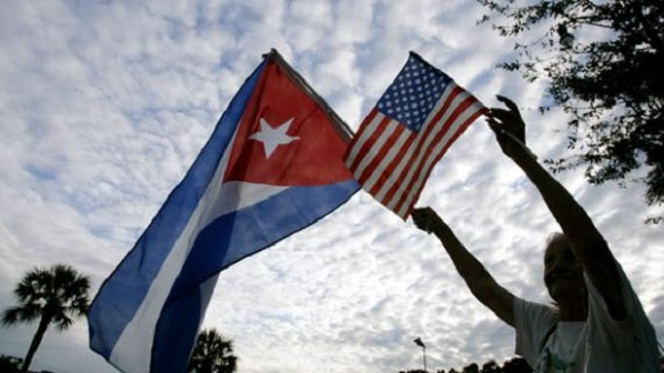 Cuban and U.S. flag