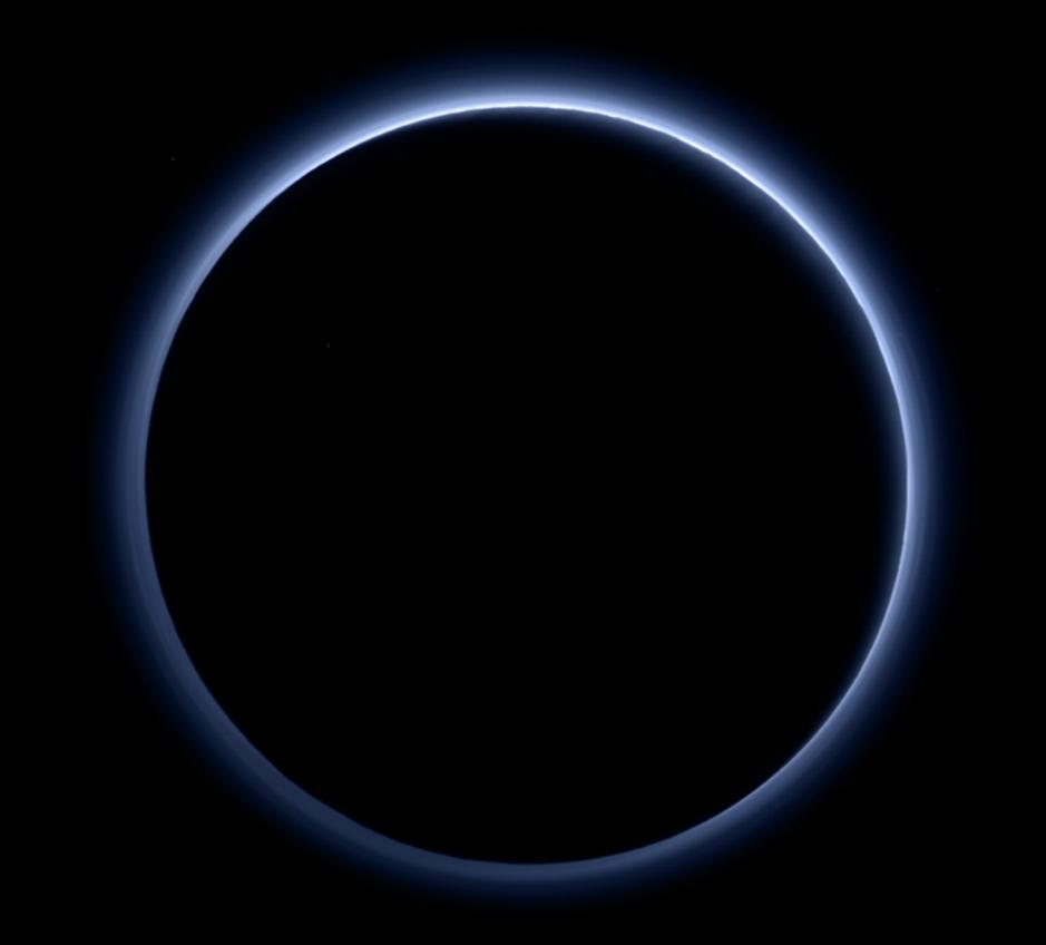 Pluto's blue haze