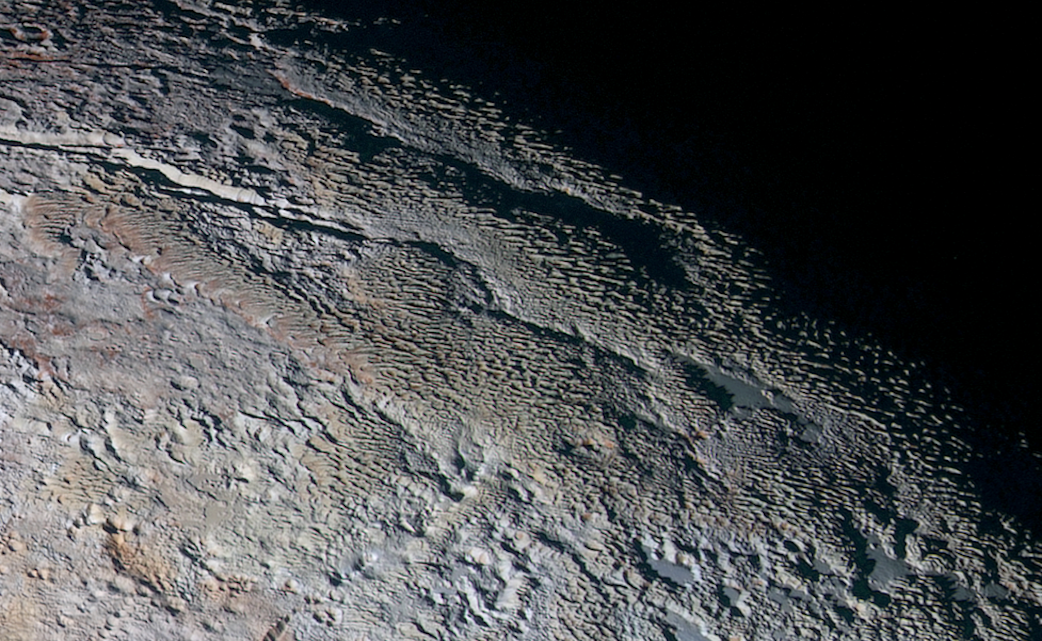 Snakeskin terrain on Pluto