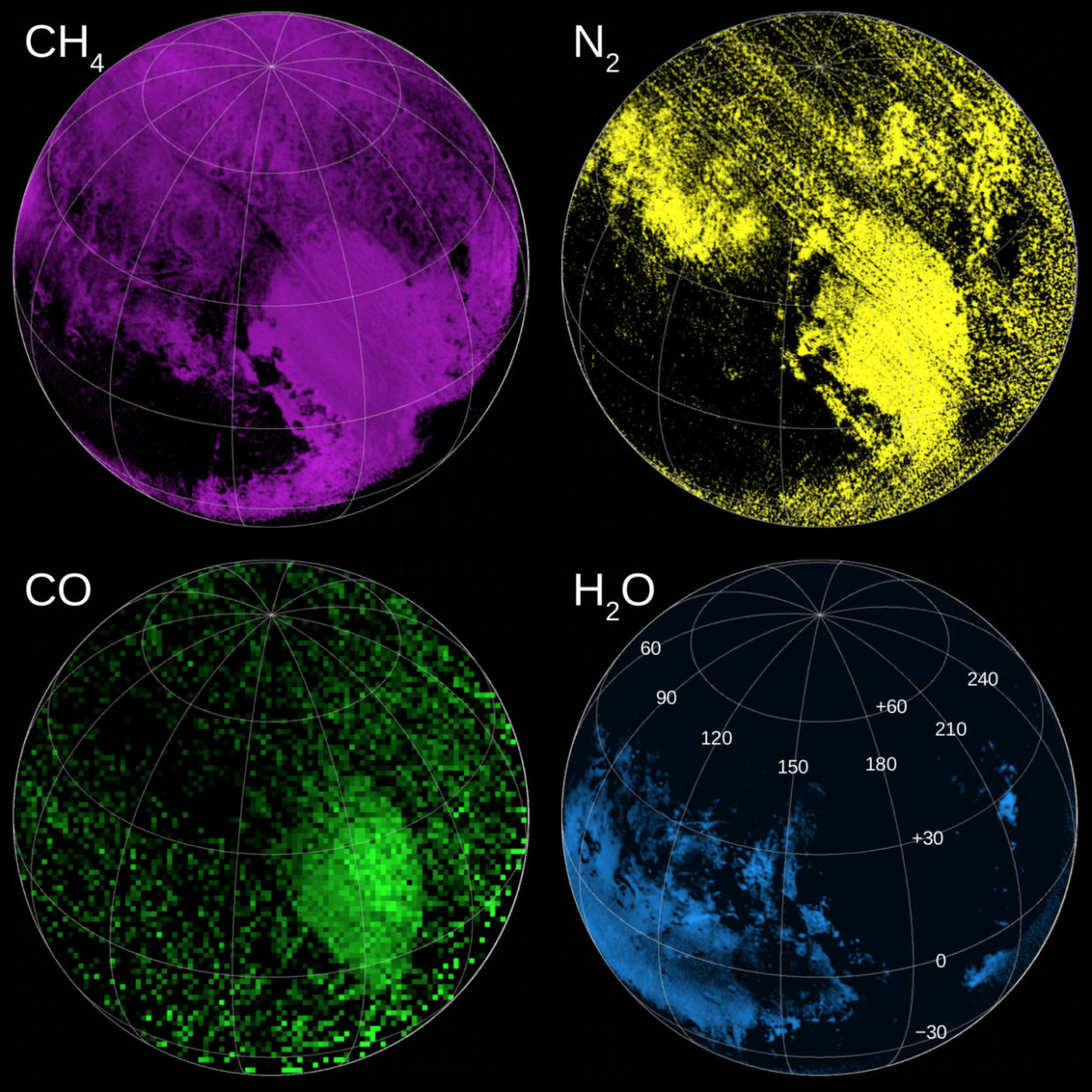 Compositional maps of Pluto